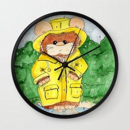 Hammy in a Raincoat Wall Clock