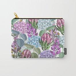 Hydrangeas Garden - Purple Floral Carry-All Pouch