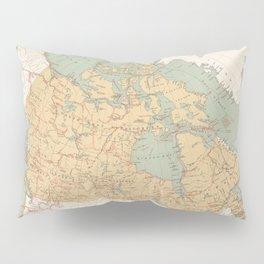 Vintage Canada Exploration Map (1915) Pillow Sham