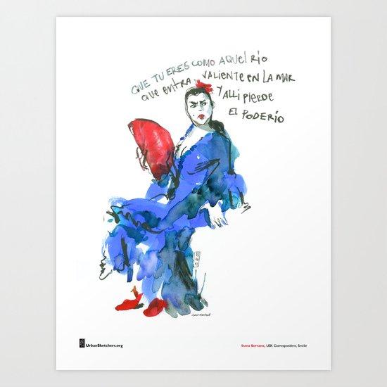 "Inma Serrano, ""Abanico"" Art Print"