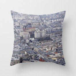 City top view Throw Pillow