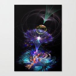 Iris Flame Fractal Canvas Print
