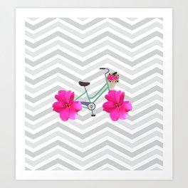 Petal Pusher Bike Art Print