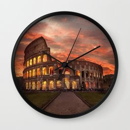 Colosseum - Rome  Wall Clock