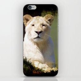 Noble Beast - Rare White Lion iPhone Skin