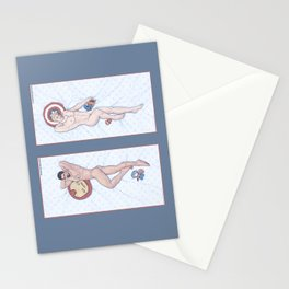 Steve and Tony Heroic Nude Pinups Stationery Cards