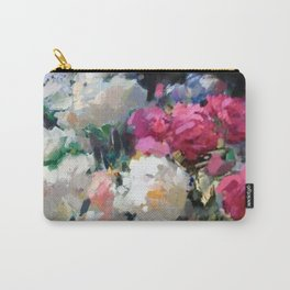 Still Life with White & Pink Roses Carry-All Pouch