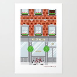 Pinwhistle Way Faccade Art Print