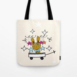 Christmas bunny  Tote Bag