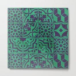 Portuguese tiles mix - Azulejos I Metal Print