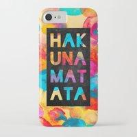 hakuna iPhone & iPod Cases featuring Hakuna matata by Elisabeth Fredriksson