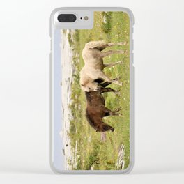 Wild Irish Foals Clear iPhone Case