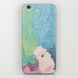 Higher Self Curly Rainbow Hair iPhone Skin