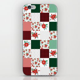 Plaid quilt pattern outdoors nature forest christmas holidays gifts iPhone Skin