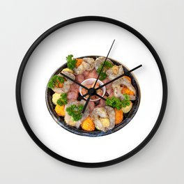Fondue Wall Clock