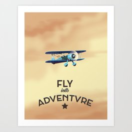 Fly Into Adventure Art Print