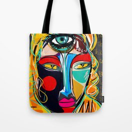 Looking for the third eye street art graffiti Tote Bag
