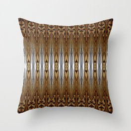 Tiger Fur Abstract Throw Pillow
