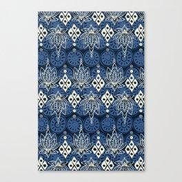 lotus diamond indigo Canvas Print