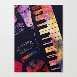 piano and guitar art #piano #guitar #music Canvas Print