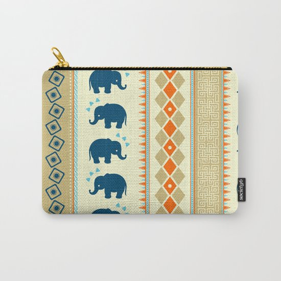 Ethnic Pattern Carry-All Pouch