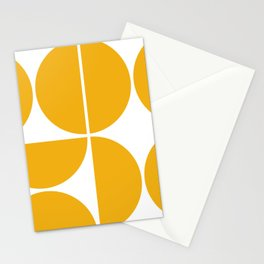 Mid Century Modern Yellow Square Stationery Cards