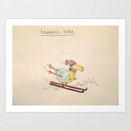 Downhill Dodo Art Print