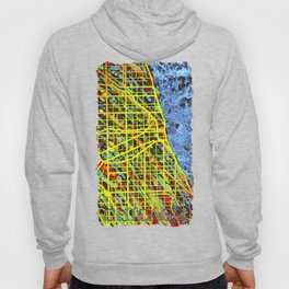 Unique Chicago Illinois Street Map by Mark Compton Hoody