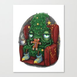 Tree eats a cookie Canvas Print
