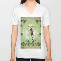 elf V-neck T-shirts featuring Christmas elf by nicky2342