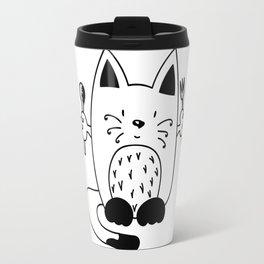 CAT EXPECTING TO EAT Travel Mug