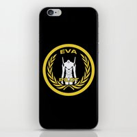 evangelion iPhone & iPod Skins featuring Evangelion Pilot Logo by Artist Meli