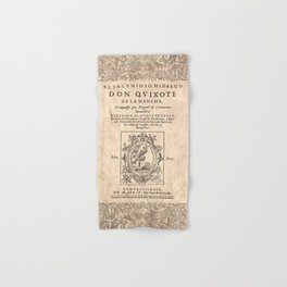 Cervantes. Don Quijote, 1605. Hand & Bath Towel