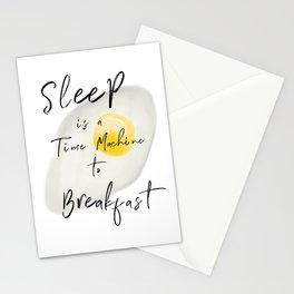 Breakfast — poster, art print, pictures, scandinavian, deco, sarcasm, egg, food, kitchen, wisdom fun Stationery Cards
