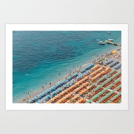 Positano Beach Aerial Kunstdrucke