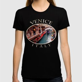 Gondolas On A Small Venetian Canal T-shirt