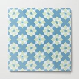 White Poplar Greenery Pattern Metal Print