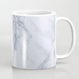 Elegant Creamy White Marble with Light Blue Veins Coffee Mug