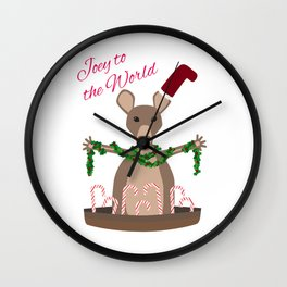 Joey to the World Wall Clock