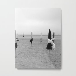 Deauville beach Metal Print