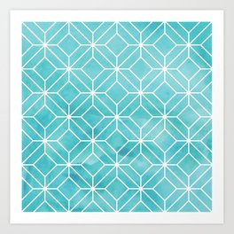 Geometric Crystals: Sea Glass Art Print