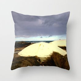 WW2 Underground Bunkers Throw Pillow