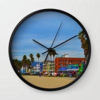 boardwalk empire Wall Clocks featuring Boardwalk by Life Of A Lens Studios