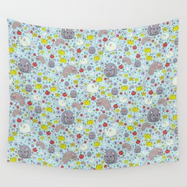 Pretty Rat and Mouse Pattern Wall Tapestry