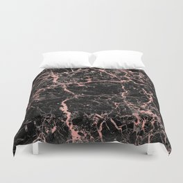 Marble Rose Gold - Someone Duvet Cover