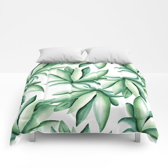 Green leaves  Comforters
