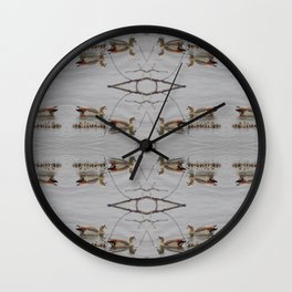 Egyptian Geese with Babies Wall Clock