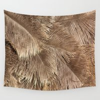 ostrich Wall Tapestries featuring Ostrich Feathers by AnnaKatherineDesign