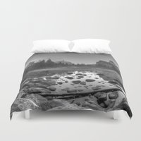 yosemite Duvet Covers featuring Yosemite Pond, Yosemite National Park, California by Kelly Moncure