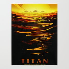 Titan NASA Space Travel Poster Futuristic Adventure Poster